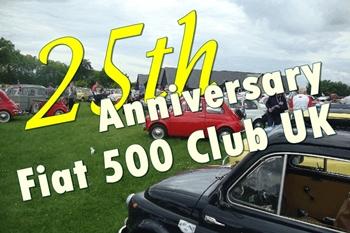 25° Anniversario per il Fiat 500 Club UK