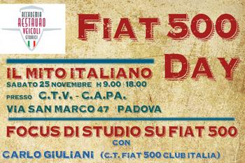 Fiat 500 Day, focus di studio sul restauro - Padova