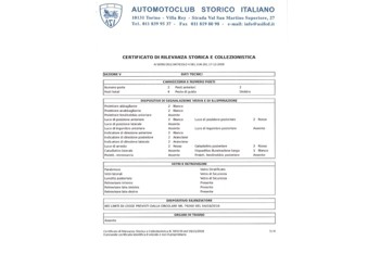 Certificato di Rilevanza Storica - il Decreto