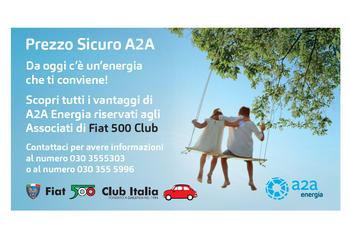 A2A - Nuova convenzione per i soci del Fiat 500 Club Italia
