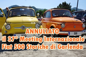 Annullato il 37° Meeting Internazionale Fiat 500 Storiche di Garlenda