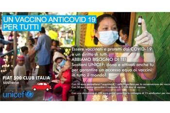 Fiat 500 Club Italia a sotegno dell'UNICEF