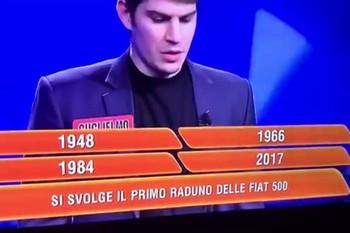 """Rai1 - Garlenda e le Fiat 500 storiche su """"L'Eredità"""""""