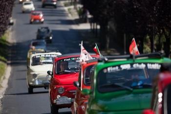 70° anniversario della Nato in Italia - Presente il Fiat 500 Club Italia