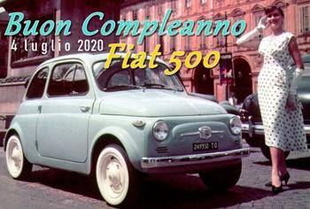 Fiat 500, 63° compleanno in diretta