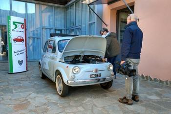 Riprese televisive al Museo della 500 Dante Giacosa