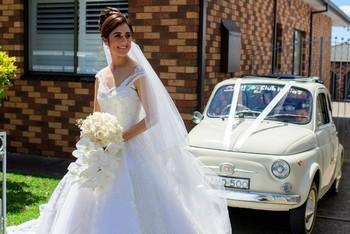 Matrimonio in Australia con la 500 storica