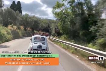 Meeting Fiat 500 sui Nebrodi su OndaTV