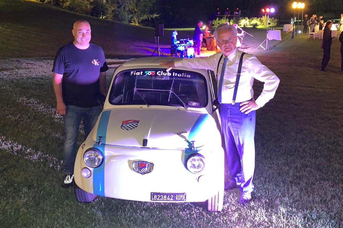 Evento Pagani a Roma con le Fiat 500