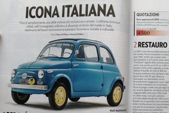 Icona Italiana - L'articolo della 500 sulla Guida al Collezionismo di Ruoteclassiche