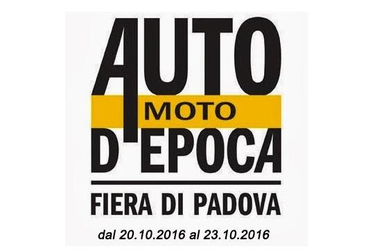 Appuntamento a Padova per Auto Moto d'Epoca dal 20 al 23 ottobre