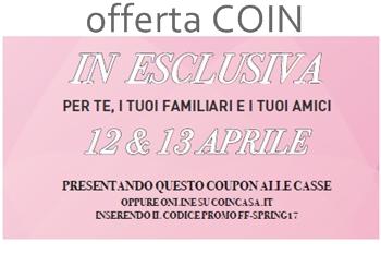 Offerta COIN - 12-13 aprile