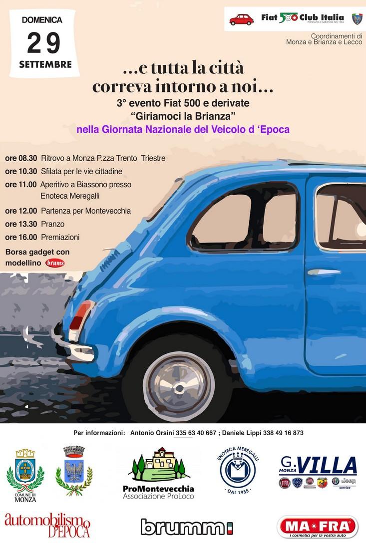Domenica 29/9 – Raduno Fiat 500 arriva a Montevecchia