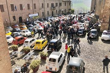 Le 500 a Castell'Arquato e Vigoleno