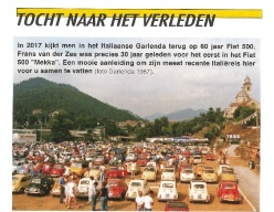 Meeting di Garlenda: ricordi dall'Olanda