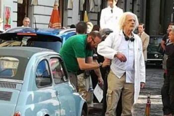 Doc di Ritorno al Futuro a Torino per uno spot sulla 500