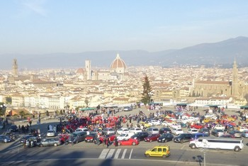 Firenze in Fiat 500 e derivate - 5^ tappa del #Fiat500RestylingTour