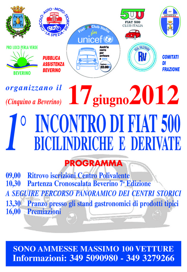 Fiat 500 Club Italia - Beverino (SP)