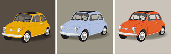 I Colori Della Fiat 500
