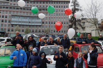 """La 500 per il """"Regina Margherita"""" di Torino"""