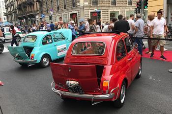 Milano - Le 500 allo Street Show Quattroruote