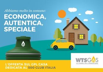 È operativa la convenzione tra la WTS GAS SpA ed il Fiat 500 Club Italia