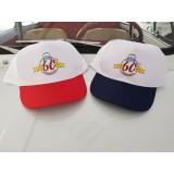Cappellino Logo 60° Bianco e Blu o Rosso