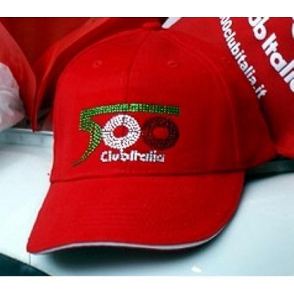 Cappellino Donna Rosso Strass Invernale 79c7971e39d9
