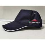 Cappellino ricamo blu