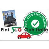 Nuova iscrizione Fiat 500 Club Italia anno 2020 SOCI STRANIERI - OFFERTA! (con invio della rivista)