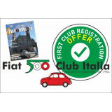 Nuova iscrizione Fiat 500 Club Italia anni 2019-2020 SOCI STRANIERI - OFFERTA!