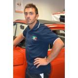 Polo Uomo Blu mezza manica Contr.Bianchi