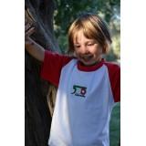T-Shirt Bimbo Bianca/Rossa
