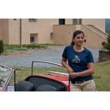 T-Shirt Donna Blu Con Strass