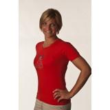 T-Shirt Donna Rossa Con Strass