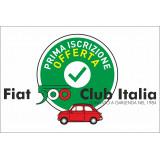 Nuova iscrizione Fiat 500 Club Italia anno 2020