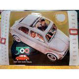 Targa calendario Fiat 500